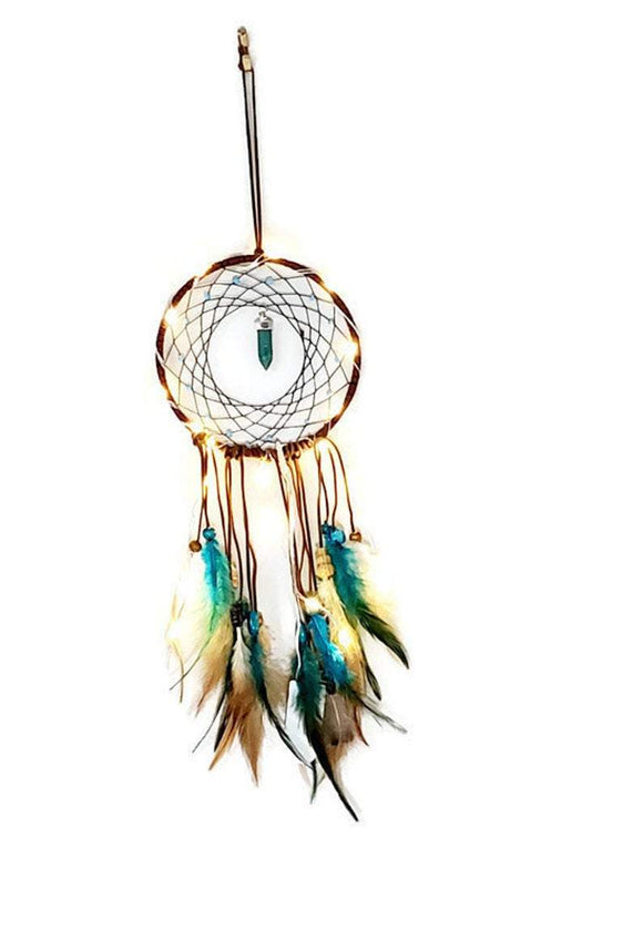 LED Light Dream Catcher Decor, Dream Catcher Art, Boho Dream Catcher, Native American Gift - New Gen Crafts