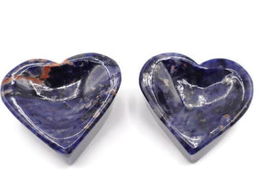 Sodalite Heart Bowls, Heart Sodalite Bowl, Sodalite Crystals, Sodalite Slab, Sodalite Heart Bowl - New Gen Crafts