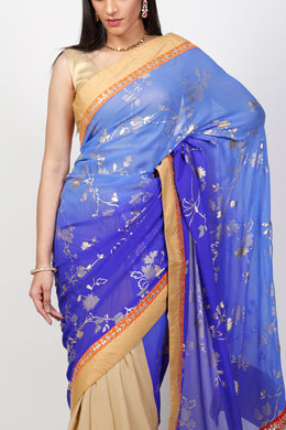 Georgette Printed Saree with Gota Patti work.
