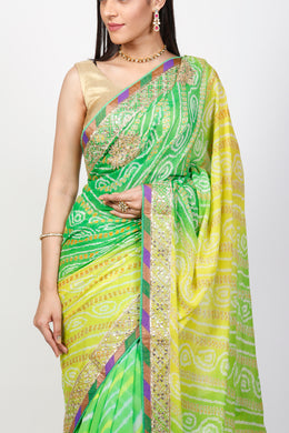 Georgette Saree with Gota Patti work.