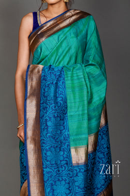 Banarsi Handloom silk  Saree with Zari work.