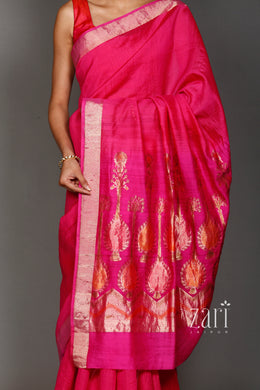 Banarsi Chanderi silk Saree with Zari work.