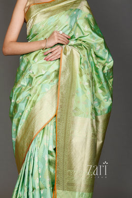 Kanjivaram  Saree with Zari work.