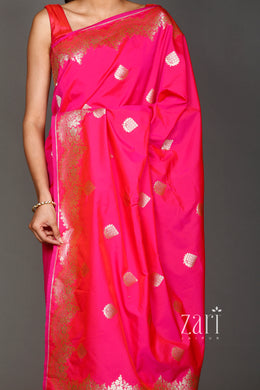 Banarsi Silk Saree with Zari work.