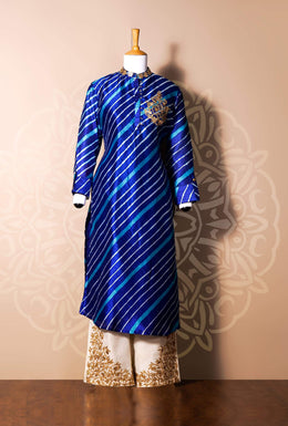 Zari-jaipur Suits Red Suits in Blue (Dark Blue) color with Dori, Gota Patti, Leheriya work.