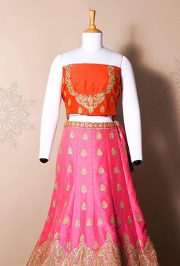 Zari-jaipur Lehenga Pink Lehenga in Pink color with Gota work.