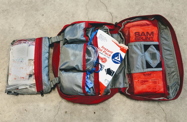 Backcountry ski first aid kit