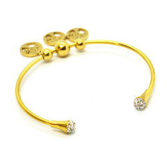 (mban-928-h9-1) Gold Plated Stainless Steel Tree of Life Bangle.