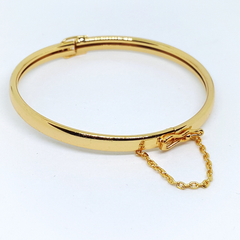 1-4029-h1 Gold Overlay Open and Close Bangle. 5mm