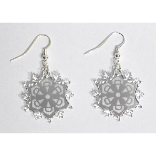 Mirrored Snowflake Earrings