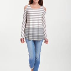 Breton Grey (20349) ~ Cold Shoulder Tunic