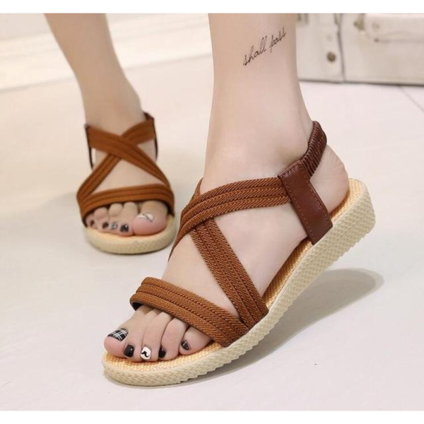 Summer Casual Beach Style  Sandals in Brown