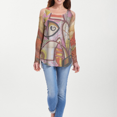 Barcelona (24010) ~ Cold Shoulder Tunic