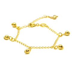 (1-0177-h8-baby) Gold Overlay Baby Charm Anklet.