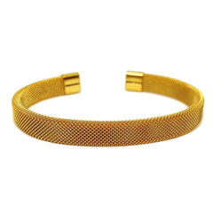 (4-5065-h6) Stainless Steel Mesh Design Bangle.