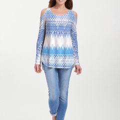 Echo Blue (7657) ~ Cold Shoulder Tunic