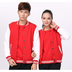 Unisex Baseball Jacket in Red