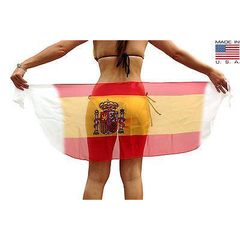 Spain Flag Short Sarong