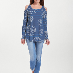 Celebration Navy (11075) ~ Cold Shoulder Tunic
