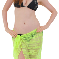 Women's Lace Sarong Medium Length Cover Up Made in the USA