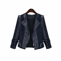 Womens Motorcycle Faux Leather Jacket
