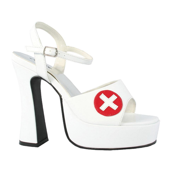 White Sexy Nurse Shoe Sz8