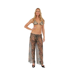 Gorgeous Mesh Camo Beach Pants Swimwear Cover up
