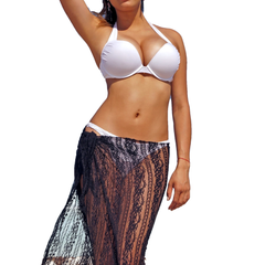 Women's Lace Sarong Long Length Cover Up Made in the USA