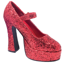 Mary Jane Red Platform Shoes Sz7