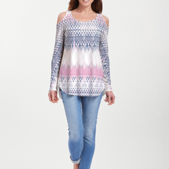 Echo Pink (7658) ~ Cold Shoulder Tunic