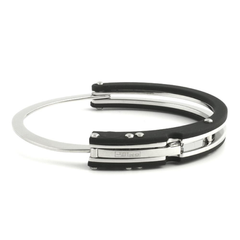 JoJino 316L Steel  Rubber Bangle Bracelet