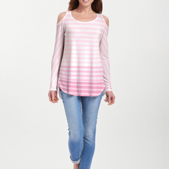 Breton Pink (20348) ~ Cold Shoulder Tunic