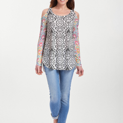 Darling Geo (13382) ~ Cold Shoulder Tunic