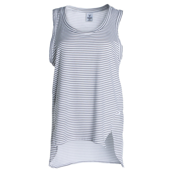 Dior Venley Women's Boyfriend-Fit Crew Neck Stripe Ath Lesiure Sleeveless Soft Premium Tank Top