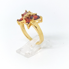 1-3101-h2 Gold Overlay CZ Butterfly Ring. (3 colors available)