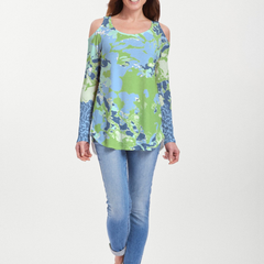 Frosted Green (19112) ~ Cold Shoulder Tunic