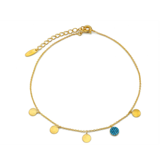 Nano Aquas and Circles Anklet