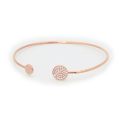 Sparkling Discs Rose Gold Bangle