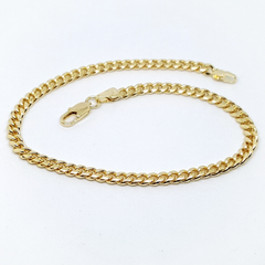 1-0028-h1 Gold Plated Cuban Link anklet. 10""