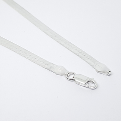 2-0116-h2 Sterling Silver Haring Bone Anklet, 5mm