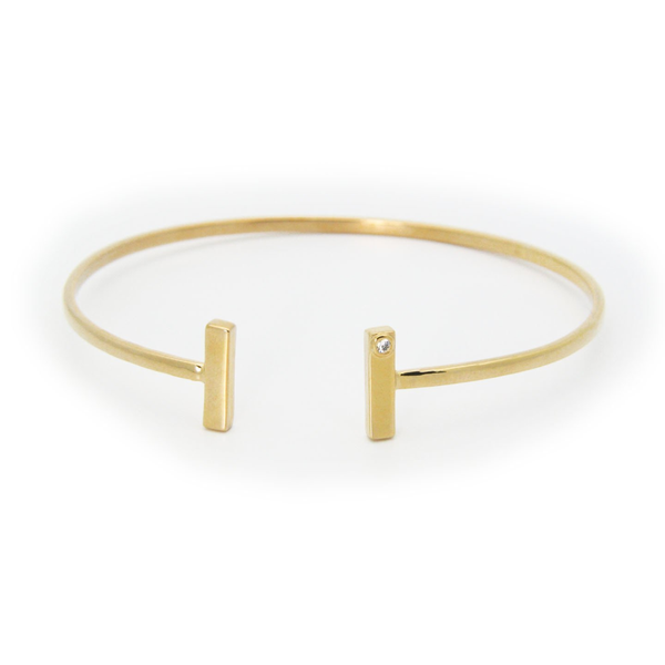 Golden Double T Bangle
