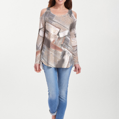 Driftwood (24013) ~ Cold Shoulder Tunic