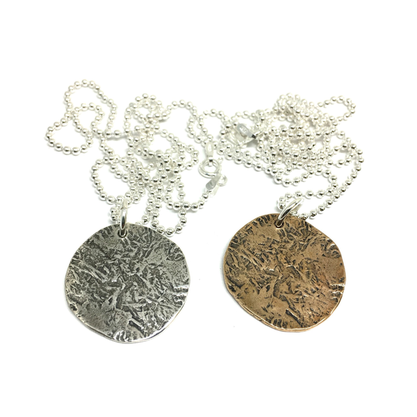 "Ancient Coin Necklace on 20"" Ball Chain"