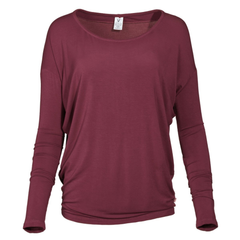 Alanna Venley Women's Crew Neck Soft Premium Long Sleeve Pico T-Shirt
