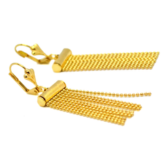 "(1-1244-h9) Gold Overlay Flashy Drop Earring, 2""."