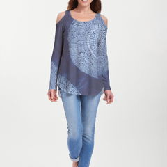 Dandelion Dream (14169) ~ Cold Shoulder Tunic