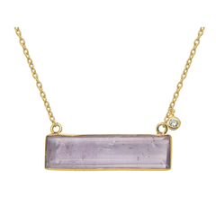 Amethyst Slice Necklace