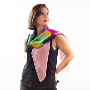 "Load image into Gallery viewer, ""Blur"" Silk Scarf"