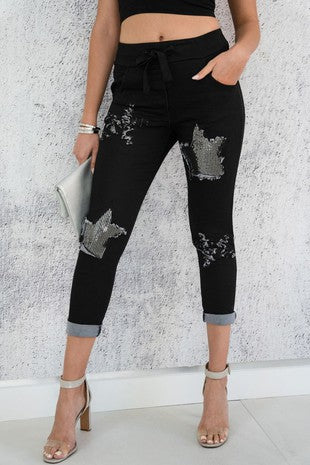 So Swanky Star Sequin Pant