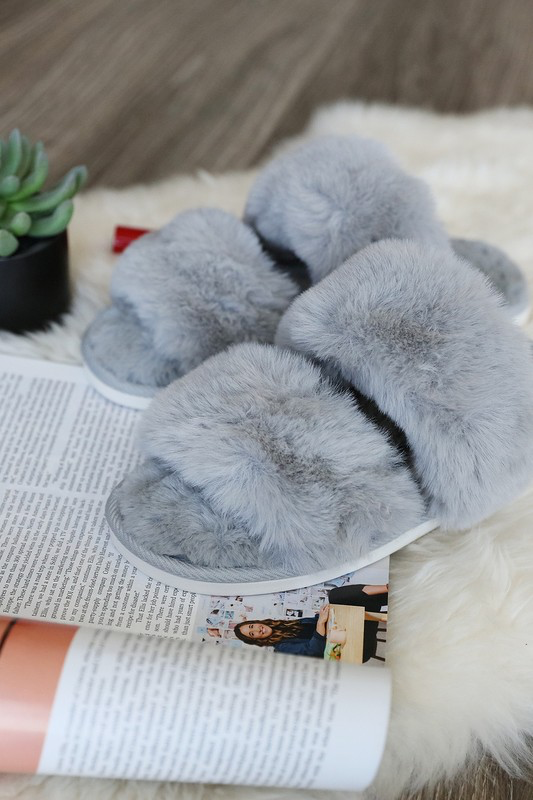 Is It Sunday Yet Fur Slippers